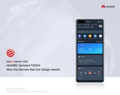 HUAWEI Assistant TODAY, el asistente personal integrado de Huawei, gana el premio Red Dot 2020
