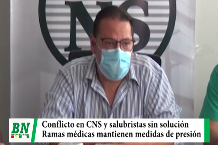 Conflicto con la CNS sin solución y salubristas mantienen medidas de presión del martes