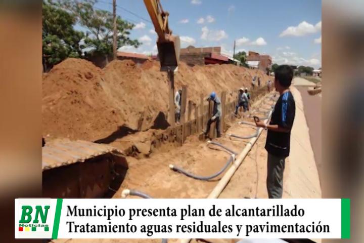 Alcaldía presenta pla de alcantarillado, planta de tratamiento de aguas residuales y pavimentación