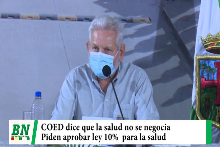 En reunión del COED determinan exigir la aprobación de la ley del 10% para la salud