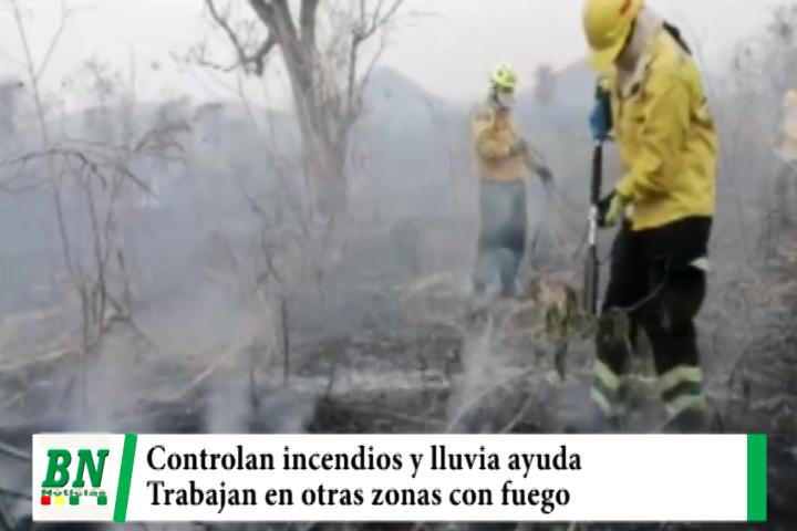 Controlan incendios forestales en cuatro lugares ayudados por la lluvia, siguen trabajos en otras zonas