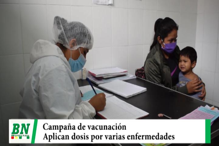 Campaña de vacunación se realiza en los centros médicos e incluye el papiloma humano entre otras