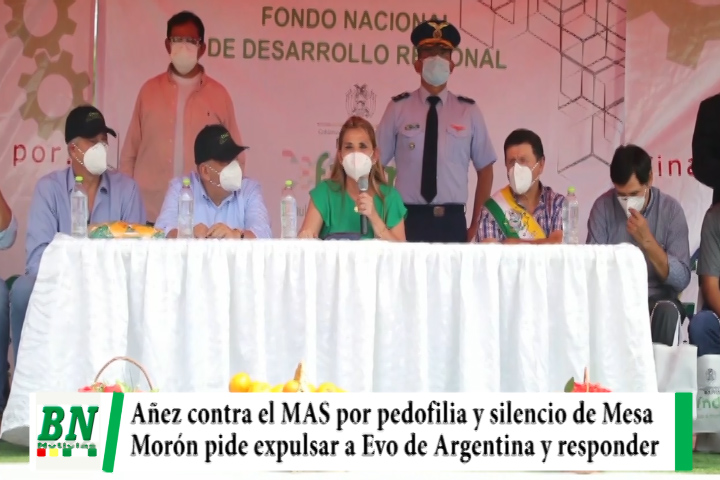 Añez critica al MAS por caso pedofilia contra Evo, a Mesa le pide manifestarse y no esconderse