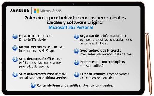 Note20 y Tab S7 de Samsung incluyen un año de licencia de Microsoft 365