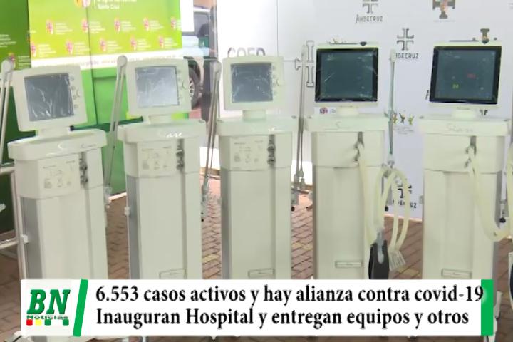 Alerta coronavirus, 6.553 casos activos y se inaugura Hospital, autoridades aliadas por la salud y entregan equipos y alimentos