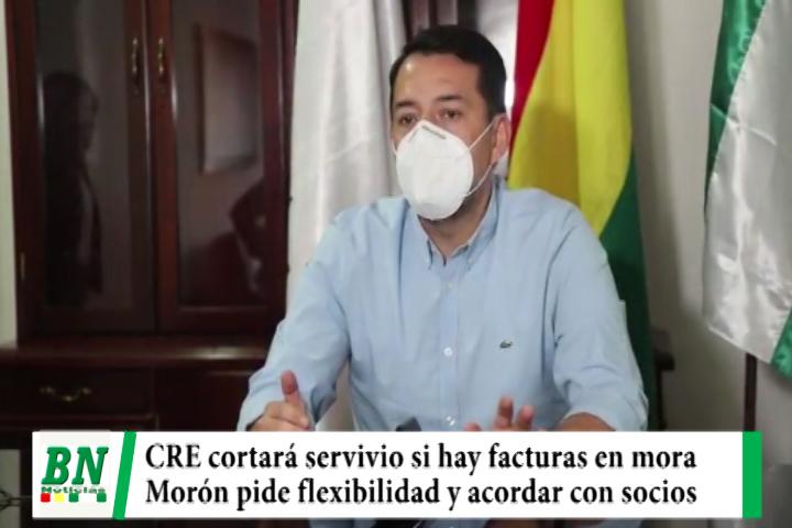 CRE cortará servicio de electricidad por facturas adeudadas y Morón pide llegar a acuerdo