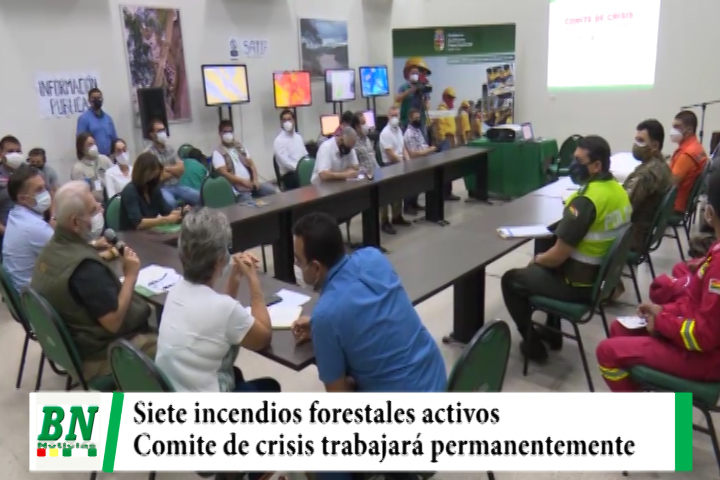 Siete incendios forestales activos y Comité de crisis trabajará permanentemente