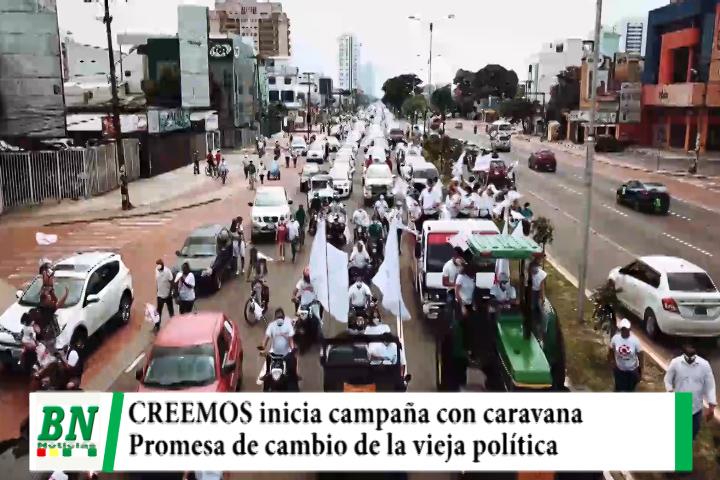 Campaña CREEMOS, inició con caravana donde Camacho y Pumari se comprometieron a cambiar la vieja política