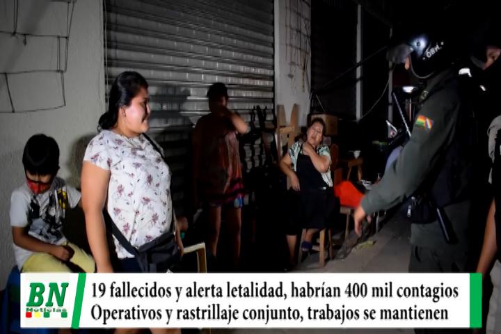 Alerta coronavirus, 19 fallecidos y ven alta letalidad. municipio cree habrían 400 mil contagiados, operativos y rastrillajes conjunto