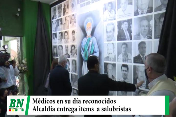 Médicos en su día son reconocidos en actos especiales mientras que Alcaldía entrega items
