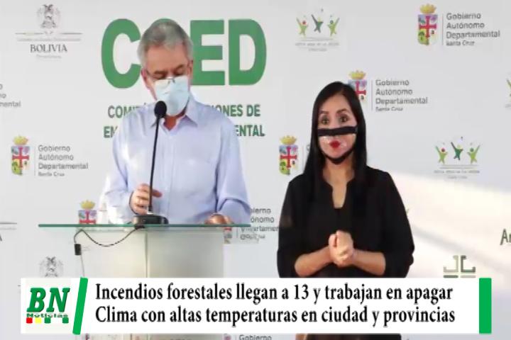 Llegan a 13 los incendios forestales y trabajan en mitigación, clima aumenta en ciudad y provincias