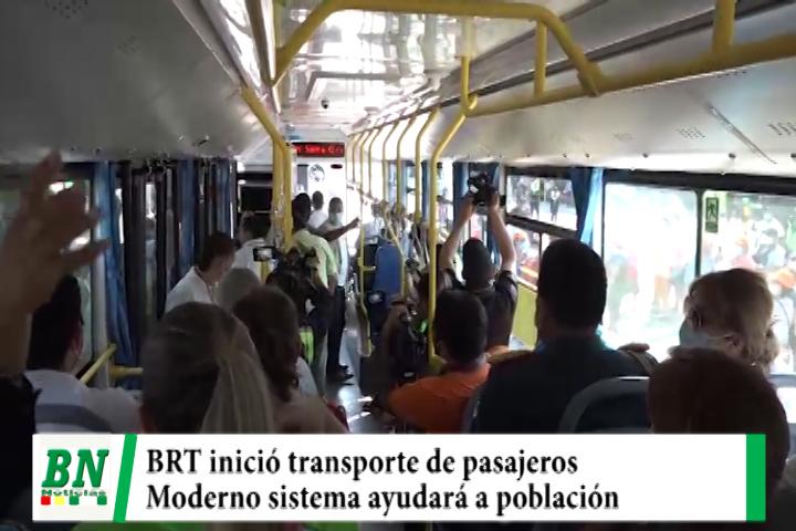 BRT inició transporte de pasajeros y moderno sistema ayudará a personas con discapacidad