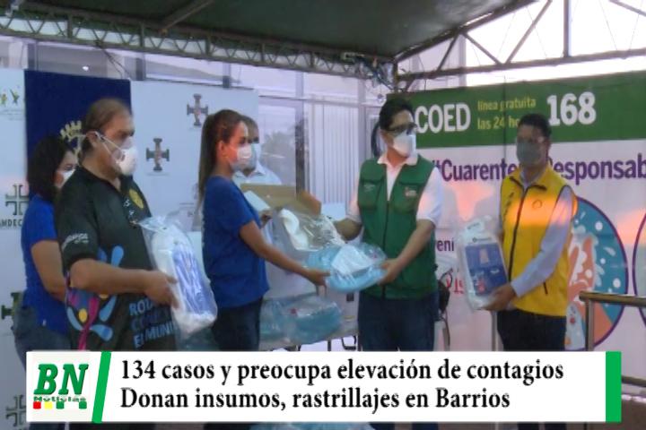 Alerta coronavirus, Contagios 134 y Sedes se preocupa, donan insumos médicos y rastrillajes se mantienen en los barrios