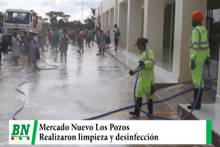 Municipio y gremiales realizaron limpieza y desinfección del Mercado Nuevo Los Pozos