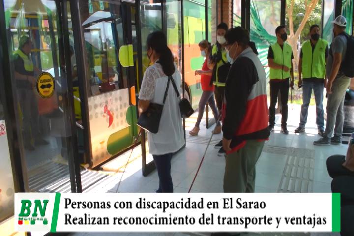 Personas con discapacidad realizaron supervisión del transporte El Sarao y sus ventajas para este sector