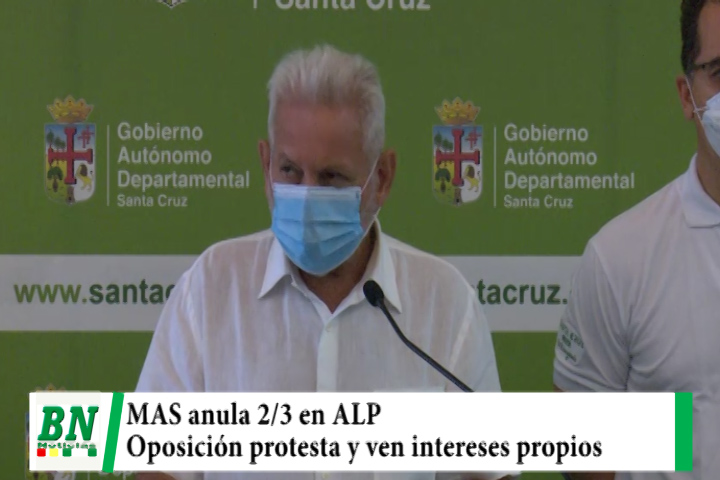 MAS anula los 2/3 en la ALP y sus opositores protestan y anuncian medidas, acusan a Arce de dar malas señales