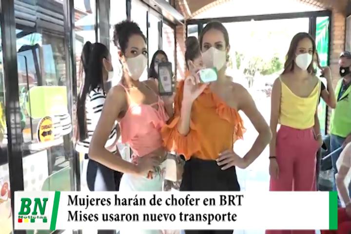 Mujeres se capacitan para conducir en el BRT mientras mises se transportaron en nuevo sistema
