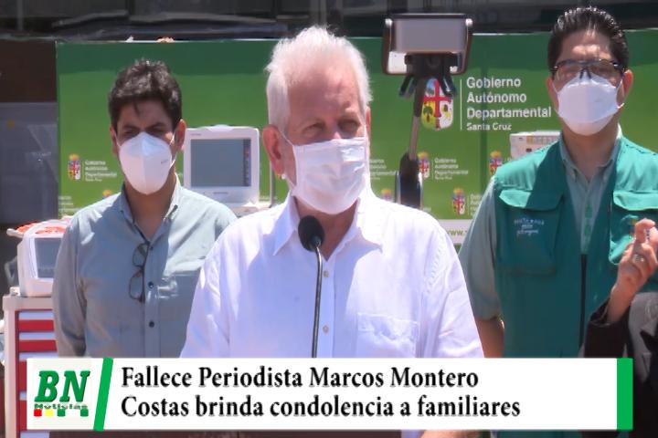 Fallece Periodista Marcos Montero y Costas brinda condolencia a familiares