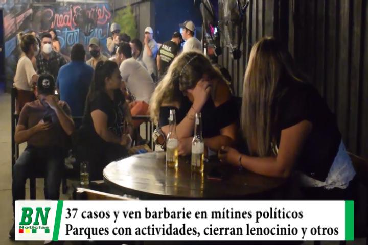 Alerta coronavirus,  37 casos y acusan barbarie en mítines políticos, parques con actividades y cierran lenocinios