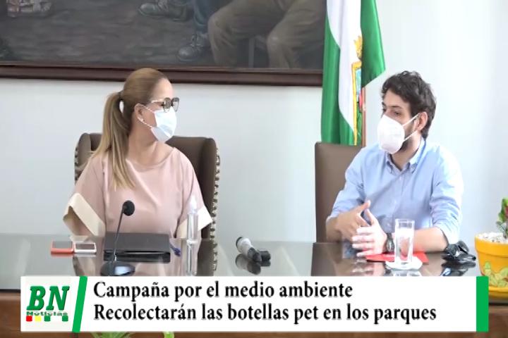 Municipio y Coca Cola acuerdan recolección de botellas pet en los parques