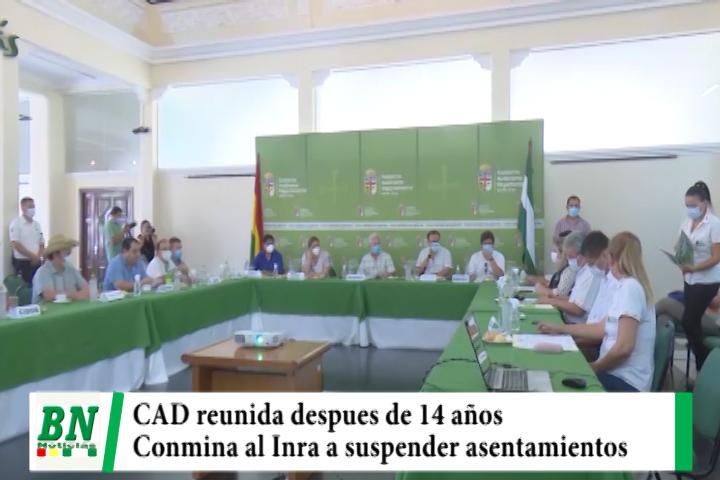 CAD se reúne después de 14 años y exige al Inra suspender las autorizaciones de asentamientos