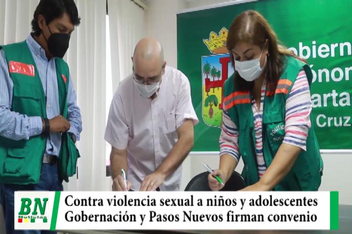 Gobernación y Pasos Nuevos firman convenio y luchan contra la violencia sexual a niños y adolescentes