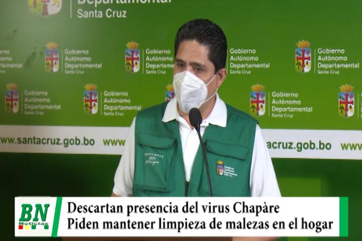 Sedes descarta que el virus Chapare esté en Santa Cruz y pide mantener limpieza de malezas