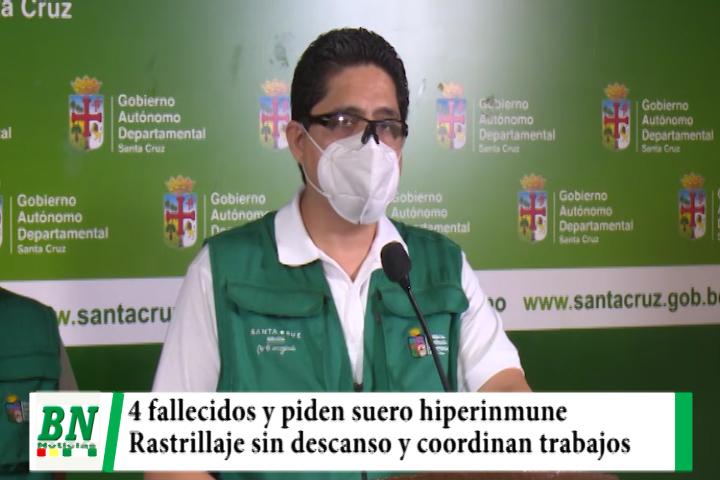 Alerta coronavirus, Cuatro fallecidos por coronavirus y piden suero hiperinmune, rastrillaje en barrios y coordinan acciones
