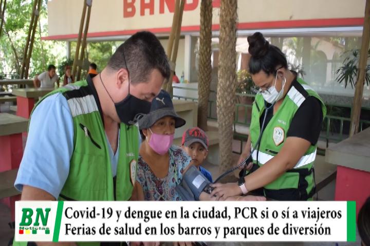 Alerta coronavirus, Sedes teme sindemia y exigirán PCR negativo a viajeros, ferias de salud en los barrios y parques