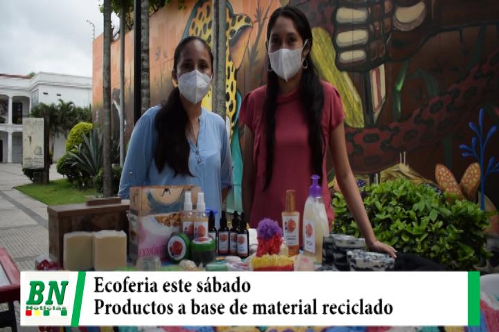 Este sábado en La Manzana Uno presentarán la Ecoferia, productos a base de material reciclado