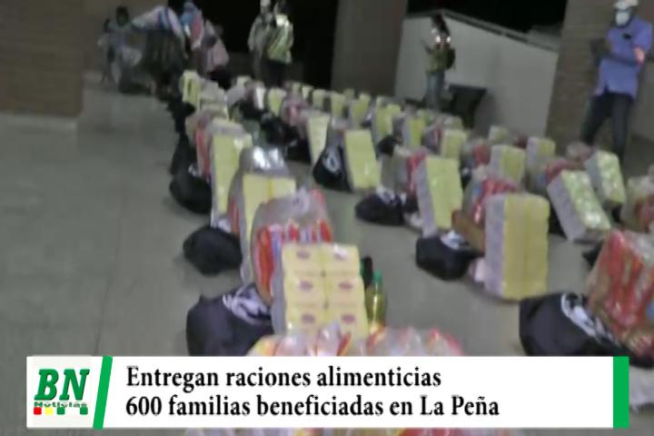 Alcaldía y Fundación Tzu Chi entregan raciones alimenticias en La Peña que beneficiaran a más de 600 familias