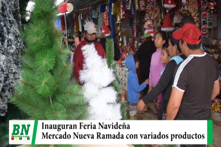 Inauguran Feria Navideña en el mercado Nuevo La Ramada con variados productos