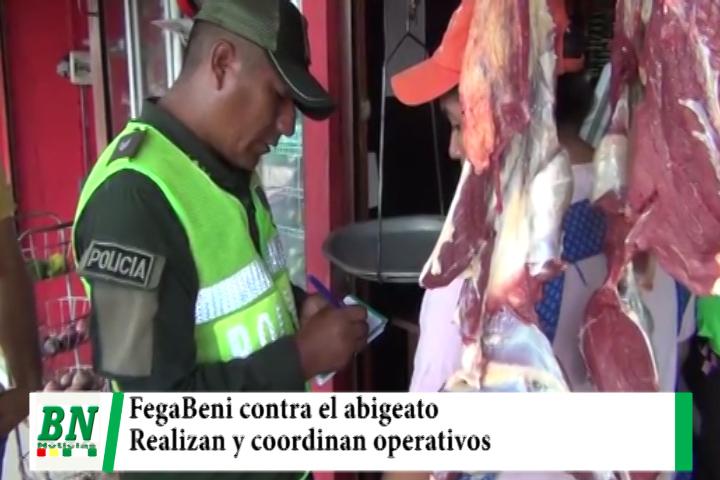 FegaBeni coordina y realiza operativos contra el abigeato que daña al sector