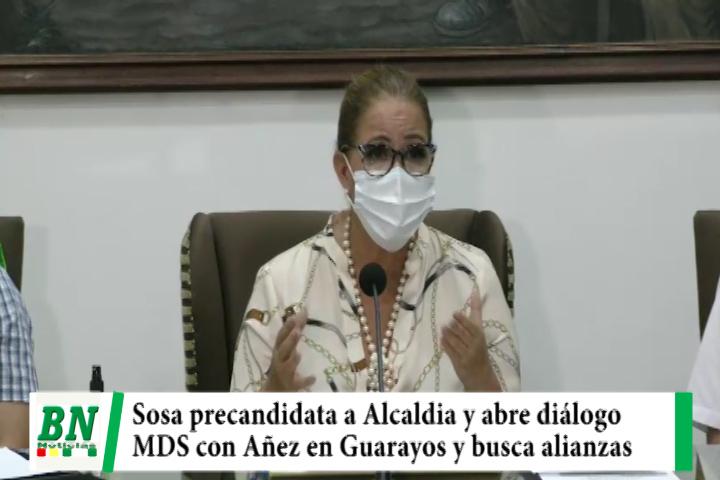 Sosa precandidata y abre diálogo. MDS va con el indígena Añez en Guarayos y busca alianzas