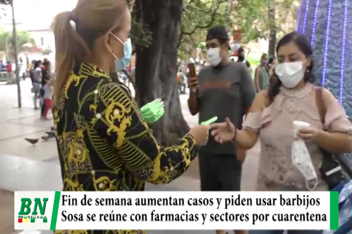 Alerta coronavirus, Aumentan casos y exigen barbijos y otras medidas, Sosa con farmacias y sectores