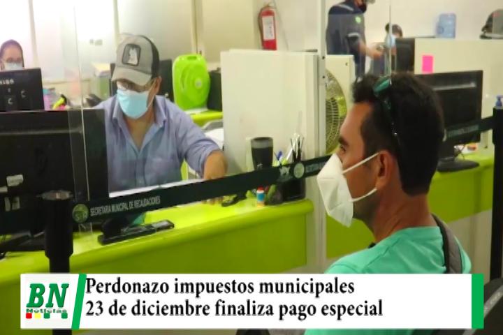 Municipio finaliza el 23 de diciembre el pago de impuestos con el perdonazo del 50%