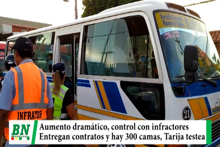 Alerta coronavirus, 408 casos y piden extremar medidas, controles con micreros infractores, hay  300 camas listas, Tarija testea en Terminal