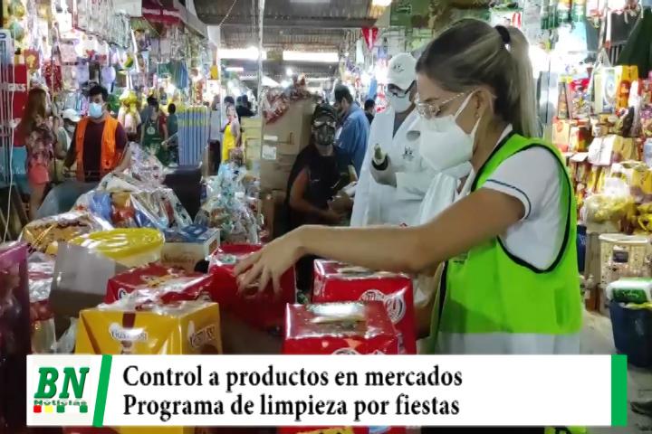 Realizan control de productos en mercados y hay cronograma de limpieza por fiestas de fin de año