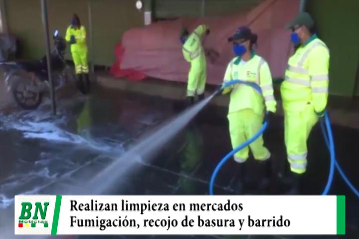 Emacruz realizó limpieza, fumigación, lavado de mercados y recojo de basura en navidad