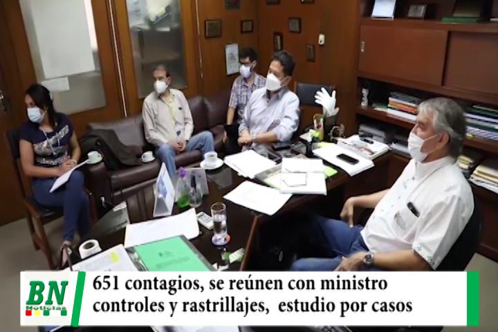 Alerta coronavirus, 651 positivos y se reúnen con ministro, controles y rastrillajes permanentes, realizarán estudio seroprevalencia