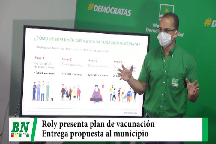 Roly presenta plan de vacunación contra el covid-19 y entrega propuesta al municipio