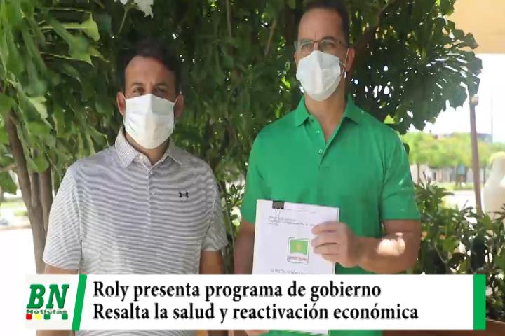 Campaña Demócratas 2021, Roly presenta plan de gobierno y prioriza salud y reactivación económica