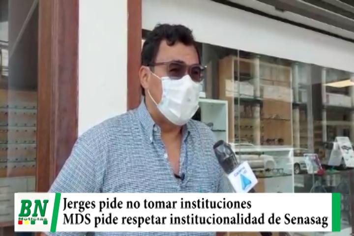 Diputado Jerges pide a militantes no tomar instituciones mientras MDS rechaza y pide respetar institucionalidad