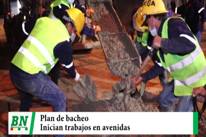 Municipio con plan de bacheo trabaja en el 4to, anillo entre Piraí y Canal Cotoca