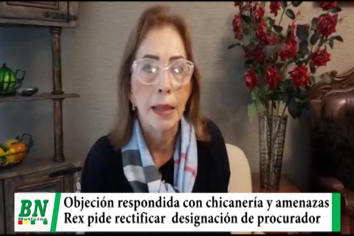 Senadora de Creemos ve amenazas y chicanería en respuesta a objeción de designación de procurador