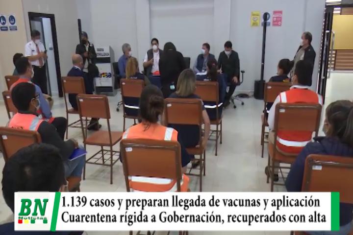 Alerta coronavirus, 1,139 contagiados y preparan llegada de vacunas y aplicación, cuarentena rígida a Gobernación, dan de alta a recuperados