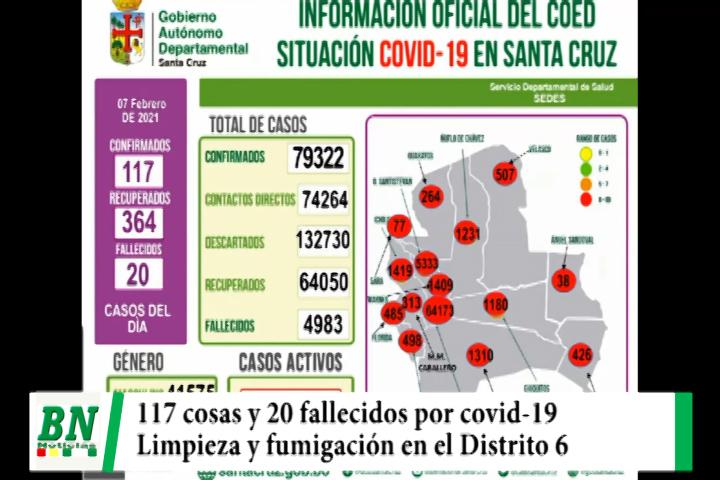 Alerta coronavirus, 117 casos y 20 fallecidos, municipio realiza limpieza y fumigación en el Distrito 6