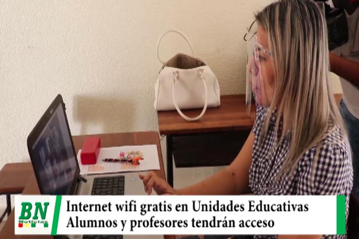 Municipio implementa internet wifi gratis en Unidades Educativas, alumnos y profesores tendrán acceso