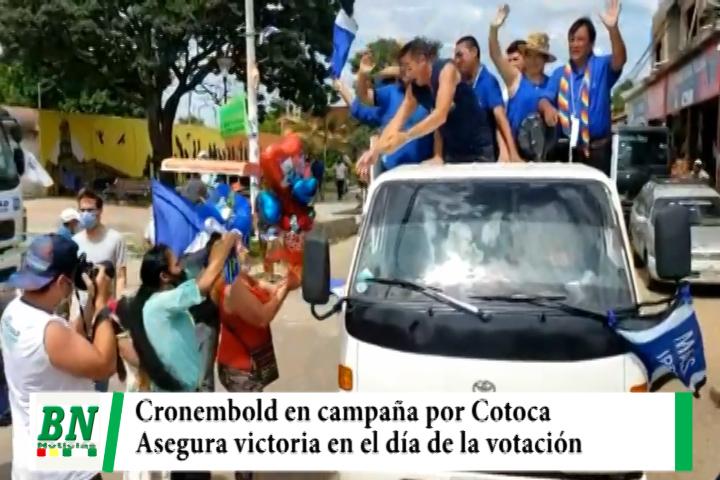 Campaña MAS 2021, Cronembold busca voto en Cotoca y asegura que el día de votación se verá apoyo