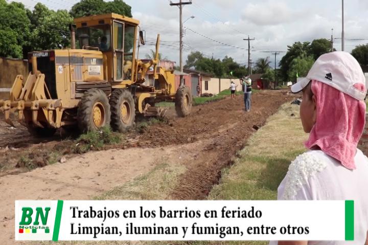 Municipio realiza trabajos de arreglos de calles, fumigación e iluminación entre otros en el Distrito 7